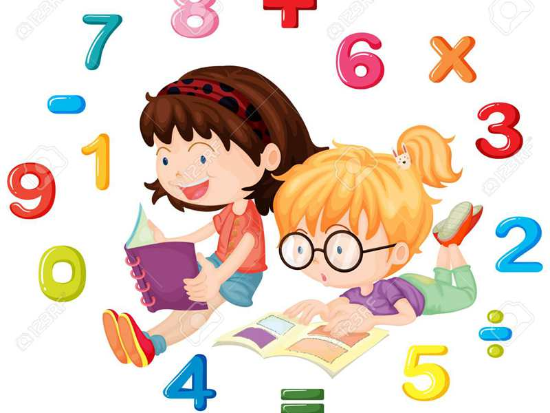 93127833-two-girls-reading-math-book-illustration